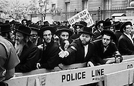 12 Jun 1969 --- A group of Orthodox Jewish men in New York City protest against the practice of autopsies in Israel. --- Image by © JP Laffont/Sygma/CORBIS