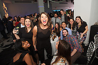 New York, NY - December 17, 2015: Mediacom staff getting rowdy at the company's holiday party at E-Space on the West Side.<br /> <br /> CREDIT: Clay Williams for Mediacom.<br /> <br /> &copy; Clay Williams / claywilliamsphoto.com