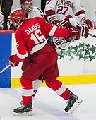 Matt Buckles,Cornell University, Big Red,Cornell,Jake Horton,Harvard University, Crimson, - The Harvard University Crimson defeated the visiting Cornell University Big Red on Saturday, November 5, 2016, at the Bright-Landry Hockey Center in Boston, Massachusetts.