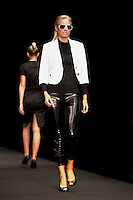 Model Lisa Jonholt on the catwalk during WHERE2GO's, the fashion magazine IN's and Magasin's &quot;CFW AW08 Trendshow - About Fashion and Personal Style&quot;. Copenhagen Fashion Week. Radhushallen, Copenhagen, Denmark.<br />