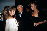 "Manhattan, New York City - February 06, 1978. Farrah Fawcett with Cary Grant and Margaux Hemingway at the Fabrege party held at Studio 54. Farrah Fawcett (February 2, 1947 - June 25, 2009) was an American actress and artist, who rose to international fame when she posed for poster as private investigator Jill Munroe in the first season of television series Charlie's Angels (1976-77). Notably, Fawcett was ranked No.26 on TV Guide's ""50 Greatest TV Stars of All Time"" list, as well as starred in television movies such as The Burning Bed and Poor Little Rich Girl: The Barbara Hutton Story."