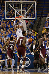 Fr. Forward Willie Cauley-Stein makes a two-handed jam during the 85-65 UK win vs Mississippi State Men's basketball game in Lexington, Ky., on Wednesday, February 27, 2013. Photo by Matt Burns | Staff