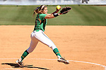 24 April 2016: Notre Dame's Katie Beriont. The University of North Carolina Tar Heels hosted the University of Notre Dame Fighting Irish at Anderson Stadium in Chapel Hill, North Carolina in a 2016 NCAA Division I softball game. UNC won game 1 of the doubleheader 7-4.