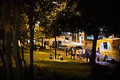 Durham, North Carolina - Saturday May 21, 2016 - Activity outside the Carolina Theatre Saturday night during Moogfest in Durham.