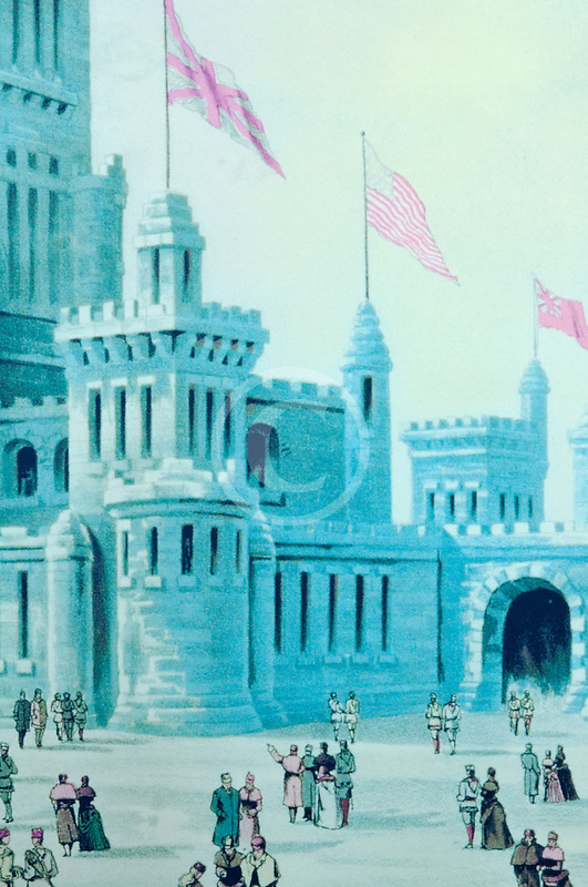 Canada, Montreal, Painting of Ice Castle