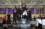 10 MAR 2012:  The Grand Canyon University men's track team celebrates winning the national title during the Division II Men's and Women's Indoor Track and Field Championship held at Myers Fieldhouse on the campus of Minnesota State University, Mankato, in Mankato, MN. Brian Fowler/NCAA Photos