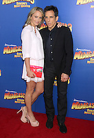 Christine Taylor and Ben Stiller at the NY premiere of Madagascar 3: Europe's Most Wanted at the Ziegfeld Theatre in New York City. June 7, 2012. © RW/MediaPunch Inc.