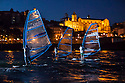 Act 4, Porto, Extreme Sailing Series. Day 03. Images showing Neil Pryde wind surfers at night in the city. Porto, Portugal. ..Credit: Lloyd Images