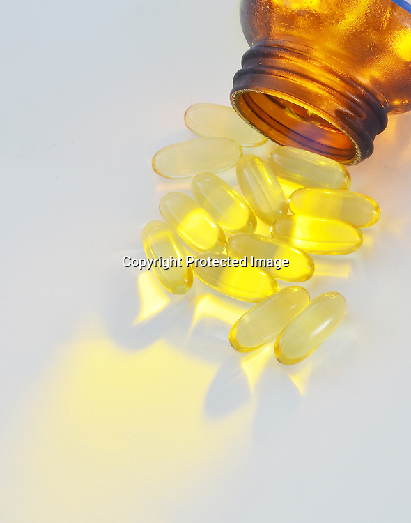 Vitamin E Fish Oil Stock Photo