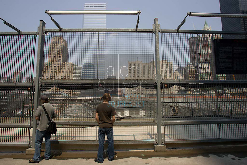 The World Trade Center site in Manhattan, New York City, New York on Wednesday, July 26, 2006.<br />