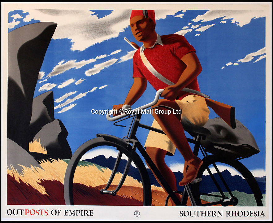BNPS.co.uk (01202 558833)<br /> Pic: RoyalMailGroup/BNPS<br /> <br /> John Vickery (1906-1983) Outposts of Empire, Southern Rhodesia, GPO poster.<br /> <br /> A one-of-a-kind sale of rare vintage posters could net the Post Office &pound;40,000 to put towards the building of a new museum dedicated to the service.<br /> <br /> In a bid to raise funds for the new British Postal Museum, curators sifted through the Royal Mail archives to find duplicates of advertising posters dating back to the 1930s that they could sell at auction.<br /> <br /> The resulting collection of more than 150 original posters are now going under the hammer at Onslows Auctions in Blandford, Dorset, in a sale the likes of which has never been held before.<br /> <br /> The proceeds will go towards the building of the new museum in Camden, London, which will feature part of the old Post Office Underground Railway - the Mail Rail - as a heritage attraction.