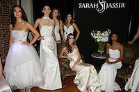 Photos taken after the Sarah Jassir Couture Bridal Fall 2012 Opulence collection fashion show at 45 East 34th Street, October 16, 2011.