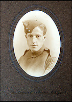 BNPS.co.uk (01202 558833)<br /> Pic: C&amp;TAuctions/BNPS<br /> <br /> CPl Albert Mayo who served in the Royal Flying Corps during the First World War.<br /> <br /> A poignant time capsule containing the last belongings of a tragic airman his grief-stricken parents couldn't bring themselves to look at has been discovered during a house clearance.<br /> <br /> The poignant archive of letters, logbooks, diary, photos and medals relating to Flight Sergeant Norman Mayo were placed in a small suitcase in 1945 by Albert and Annie Mayo and seemingly never opened again.<br /> <br /> The black leather case was found stashed under a bed by a house clearance firm tasked with getting rid of the contents before the empty property in Finchley, North London.<br /> <br /> The archive is now being sold by C&amp;T Auctioneers.