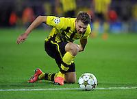 FUSSBALL   CHAMPIONS LEAGUE   SAISON 2012/2013   GRUPPENPHASE   Borussia Dortmund - Ajax Amsterdam                            18.09.2012 Lukasz Piszczek (Borussia Dortmund)  Einzelaktion am Ball