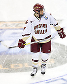 Carl Sneep (Boston College - Nisswa, Minnesota) takes part in warmups. The Michigan State Spartans defeated the Boston College Eagles 3-1 (EN) to win the national championship in the final game of the 2007 Frozen Four at the Scottrade Center in St. Louis, Missouri on Saturday, April 7, 2007.