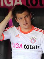 FUSSBALL   1. BUNDESLIGA  SAISON 2011/2012   33. Spieltag FC Bayern Muenchen - VfB Stuttgart       28.04.2012 Toni Kroos (FC Bayern Muenchen)