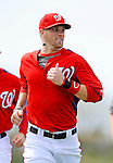 25 February 2012: Washington Nationals' outfielder Bryce Harper works on running drills during the first full squad Spring Training workout at the Carl Barger Baseball Complex in Viera, Florida. Mandatory Credit: Ed Wolfstein Photo