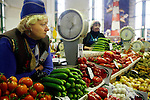 Photo by Heathcliff Omalley..Irkutsk 19-20 November 2007.A central market in the city of Irkutsk , eastern Siberia's trade and administrative centre,which lies just west of Lake Baikal, was founded in 1651 as a Cossack Garrison and is now a thriving post soviet city.