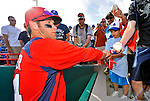 2 March 2011: Washington Nationals outfielder Bryce Harper signs autographs for fans after Spring Training action against the Florida Marlins at Space Coast Stadium in Viera, Florida. The Nationals defeated the Marlins 8-4 in Grapefruit League action. Mandatory Credit: Ed Wolfstein Photo