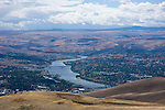 Lewiston, Idaho and Clarkston, Washington are joined by two bridges over the Snake River after it exits Hells Canyon.  These towns are named after the explorers Lewis and  Clark who traveled through here on thier way to the Pacific Ocean.