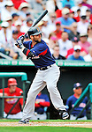 8 March 2012: Boston Red Sox infielder Dustin Pedroia in action during a Spring Training game against the St. Louis Cardinals at Roger Dean Stadium in Jupiter, Florida. The Cardinals defeated the Red Sox 9-3 in Grapefruit League action. Mandatory Credit: Ed Wolfstein Photo
