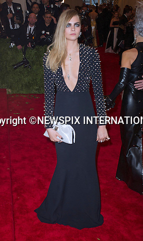 "CARA DELVINGNE.attends the Costume Institute Gala at the Metropolitan Museum of Art, New York.The event is considered the Oscars of the Fashion world_06/05/2013.Mandatory credit photo:©Dias/NEWSPIX INTERNATIONAL..**ALL FEES PAYABLE TO: ""NEWSPIX INTERNATIONAL""**..PHOTO CREDIT MANDATORY!!: NEWSPIX INTERNATIONAL(Failure to credit will incur a surcharge of 100% of reproduction fees)..IMMEDIATE CONFIRMATION OF USAGE REQUIRED:.Newspix International, 31 Chinnery Hill, Bishop's Stortford, ENGLAND CM23 3PS.Tel:+441279 324672  ; Fax: +441279656877.Mobile:  0777568 1153.e-mail: info@newspixinternational.co.uk"