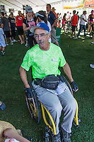 One of the two wheelchair participants in this year's Hook and Ladder run at the Wente Winery in Livermore, CA.  The run supports injured and fallen Firefighters, Burn Foundation and Local Charities in the Tri Valley .