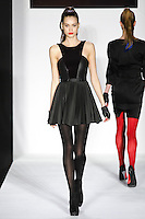 Jacky  walks runway in a bebeBlack Fall 2011 outfit, at the Style 360 Fall 2011 fashion show, during New York Fashion Week.