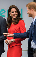 HAYES, UNITED KINGDOM - APRIL 20: Catherine, Duchess of Cambridge, Prince Harry attends the official opening of The Global Academy in support of Heads Together on April 20, 2017 in Hayes, England. <br /> CAP/JOR<br /> &copy;JOR/Capital Pictures