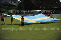 The Swedish flag at the UEFA Womens U19 Championships at Stebonheath park Sunday 25th August 2013. All images are the copyright of Jeff Thomas Photography-www.jaypics.photoshelter.com-07837 386244-Any use of images must be authorised by the copyright owner.