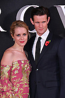 Claire Foy, Matt Smith<br /> Premiere of The Crown, a new Netflix TV series about the reign of Queen Elizabeth II, at Odeon Leicester Square, London, England November 01, 2016.<br /> CAP/JOR<br /> &copy;JOR/Capital Pictures /MediaPunch ***NORTH AND SOUTH AMERICAS ONLY***