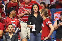 6 April 2008: Stanford Cardinal former basketball players Jamila Wideman, Jennifer Azzi, and Kate Starbird during Stanford's 82-73 win against the Connecticut Huskies in the 2008 NCAA Division I Women's Basketball Final Four semifinal game at the St. Pete Times Forum Arena in Tampa Bay, FL.