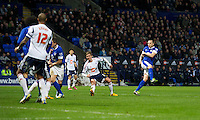BOLTON, ENGLAND - Saturday, January 26, 2013: Everton's John Heitinga scores a late winning second goal against Bolton Wanderers during the FA Cup 4th Round match at the Reebok Stadium. (Pic by David Rawcliffe/Propaganda)