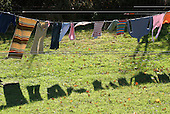 Laundry on the line.