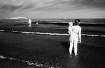 Woman And Child, Good Harbor Beach - Infrared Film