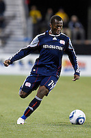 8 MAY 2010:  New England Revolutions' Sainey Nyassi (14) during MLS soccer game between New England Revolution vs Columbus Crew at Crew Stadium in Columbus, Ohio on May 8, 2010. The Columbus defeated New England 3-2.