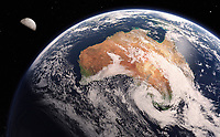 Digitally manipulated image of Australia from space
