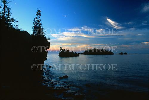 Sunrise from Caribou Island on Isle Royale National Park, Michigan on Lake Superior.