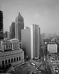 Pittsburgh PA - View of the William Moorhead Federal Building - 1969.  Photograph taken from the top of the PA Railroad Station