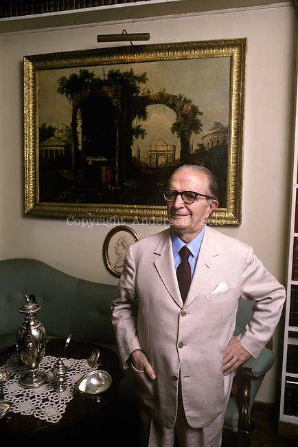 Giovanni Macchia ( 1912-2001) at home in Rome.