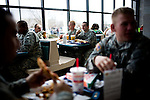 Fort Carson soldiers dine in the food court of the post's PX (mall)...Major General Mark Graham and his wife, Carol, talk about the deaths of their two sons in their Fort Carson home in Colorado Springs, Colo.  Their son, Second Lt. Jeff Graham was killed by a roadside bomb in Iraq just months after their other son, ROTC Cadet Kevin Graham, committed suicide in his apartment.  Since Kevin's suicide, the Grahams have been outspoken advocates for suicide prevention.