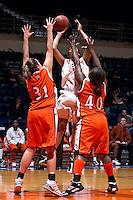 SAN ANTONIO, TX - MARCH 6, 2008: The Sam Houston State University Bearkats vs. The University of Texas at San Antonio Roadrunners Women's Basketball at the UTSA Convocation Center. (Photo by Jeff Huehn)
