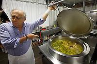 Castelfranco Emilia, Festa di San Nicola - Sagra del Tortellino (Tortellini Festival).<br /> Gianni Degli Angeli, the festival's mastermind, supervising the preparation of Tortellini.