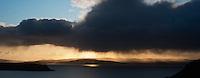 Evening rain showers over Loch Snizort, Uig, Isle of Skye, Scotland