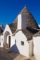 Trulli houses of Alberobello, Puglia, Italy.  Pictures, photos, images & fotos.
