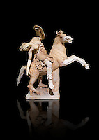 Roman marble sculpture of an Amazon on horseback, a 2nd century AD copy from an original 2nd century BC Hellanistic Greek original, inv 6407 Farnese Collection, Naples Museum of Archaeology, Italy