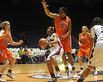 "Ole Miss' Shantell Black (11) vs. Auburn's Keke Carrier in women's college basketball at the C.M. ""Tad"" SMith Coliseum in Oxford, Miss. on Thursday, February 25, 2010."