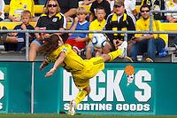 24 OCTOBER 2010:  Columbus Crew defender Frankie Hejduk (2) during MLS soccer game against the Philadelphia Eagles at Crew Stadium in Columbus, Ohio on August 28, 2010.