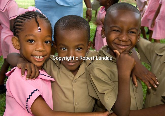 School kids on field trip to Botanical Gardens in Kingston, Jamaica