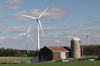 Wind Turbines near Southwestern Ontario Farm
